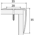 Schodový profil - A43